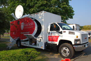 Fairfield U media truck