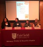 Four of the five alumnae at last years panel.