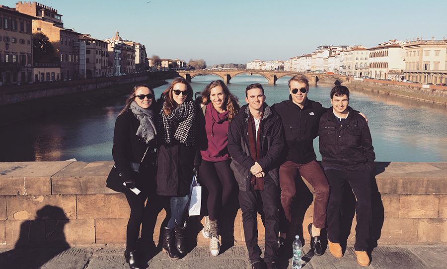 Fairfield University students in Florence, Italy
