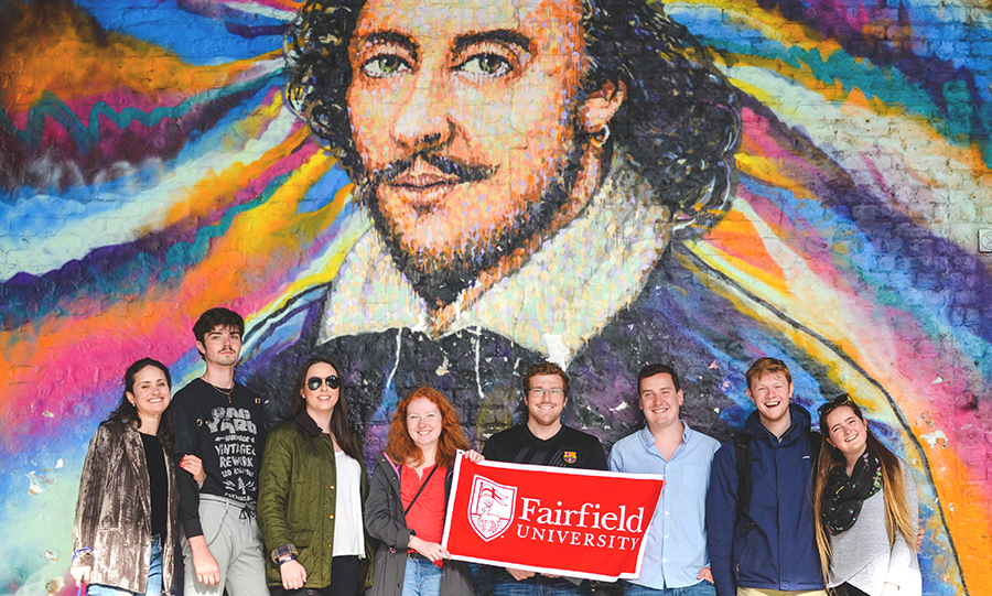 Fairfield University students in London, England