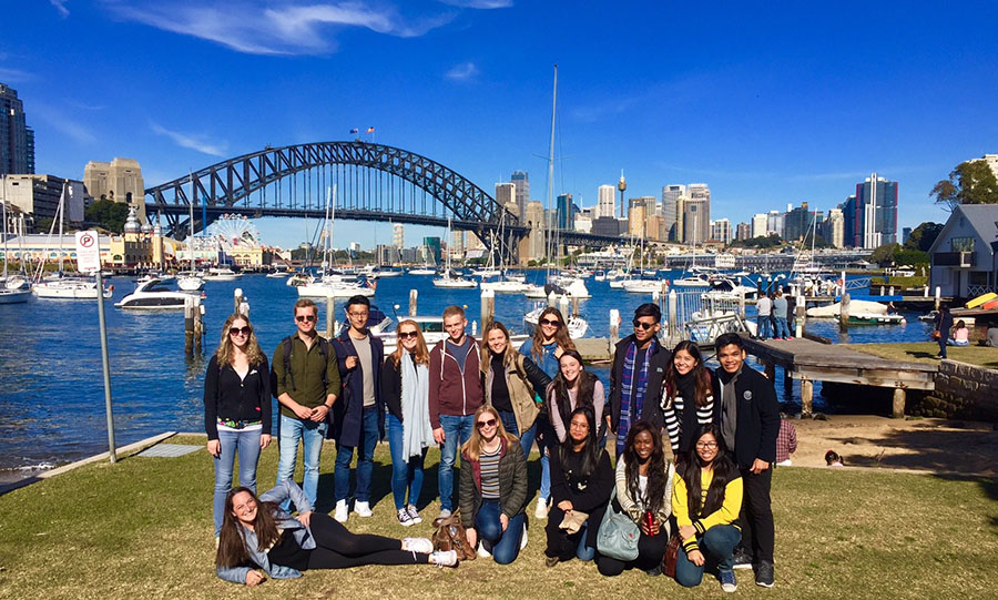 Fairfield University students in Sydney, Australia