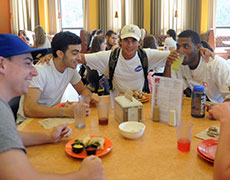 Fairfield University Students At Barone Campus Center Dining Hall