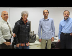 Ellie Hawthorne, of the Brinkman Family Foundation, joined Dr. Shah Etemad, Dr. Bruce Berdanier, and Dr. Sriharsha Sundarram on a tour of School of Engineering laboratories