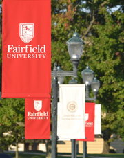 Image: Fairfield University flags