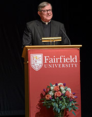 Fairfield University President Jeffrey P. von Arx, S.J., at the launch of the new Center for Ignatian Spirituality.