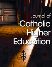 Image: Journal of Catholic Higher Education