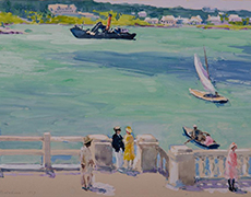 Gari Melchers, The Landing, Bermuda. Lent by Gari Melchers Home and Studio, University of Mary Washington.