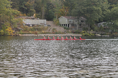Fairfield U women's rowing team in action