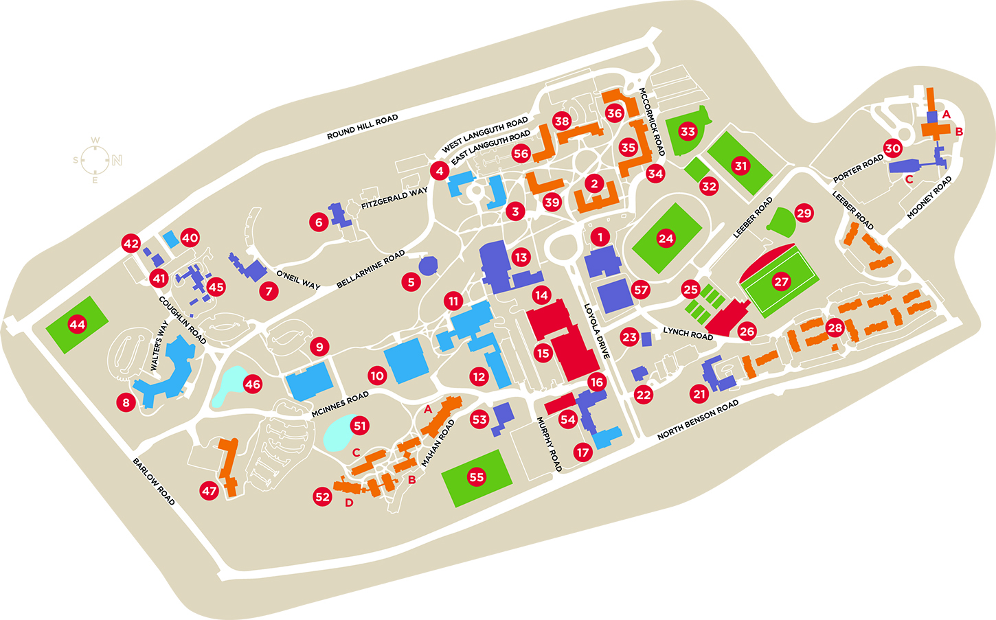 Campus Map | Fairfield University, Connecticut