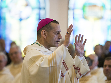 advent mass, bishop caggiano