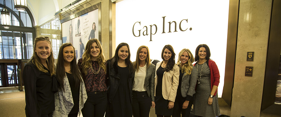 A group of Fairfield undergrad's interning at Gap Inc.