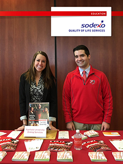 Two Fairfield students interning at Sodexo