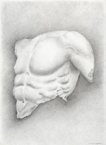 Sculpting of Posiedons Chest
