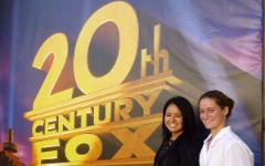 Kimberly Kurata '14 and Kristen Filicia '14   Job Shadow w Aimee Hoffman '95 Fox Entertainment