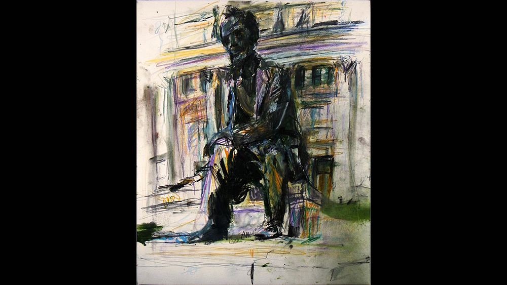 Seated Lincoln, Newark Courthouse, Newark, NJ, 2015